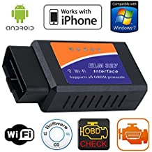 Gadgetguru Elm327 Wifi Obd Obd Ii Wireless Auto Diagnostic Scanner Tool For Android And Iphone