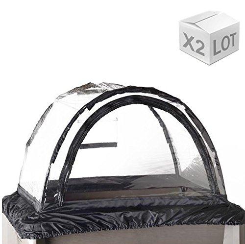 EDA Plastiques - Espace Potager - Lot de 2 Serre pour Espace Potager Veg&Table XXL