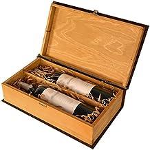 Doble Botella, caja de regalo de lujo de madera para vino, champán o Whisky