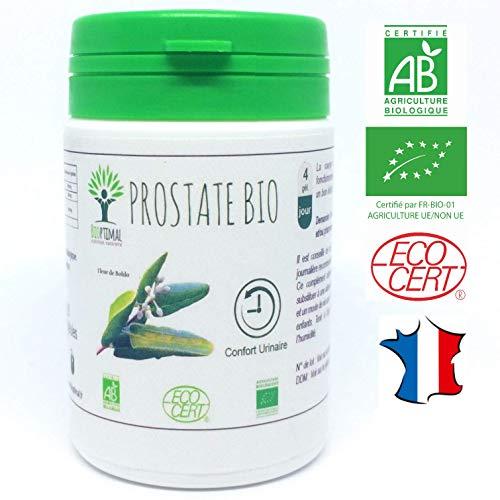 Prostate bio | 60 gélules | Complément alimentaire | Confort Urinaire | Bioptimal - nutrition naturelle | Fabriqué en France