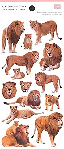 Süße niedliche Löwe Tier Sticker von Mind Wave