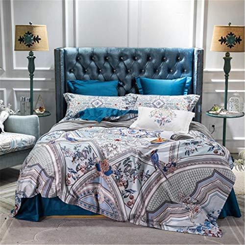 he Baumwolle Flach/Bettlaken Bettbezug Spannbettlaken-Bettwäschesatz Bett-Set Parure Bedding Set 1 King Size 4pcs ()