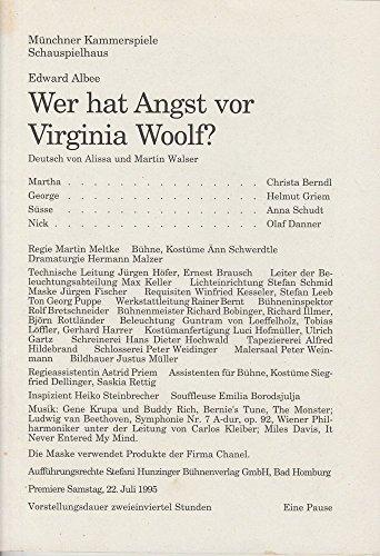Programmheft Wer hat Angst vor Virginia Woolf ? Premiere 22. Juli 1995 Schauspielhaus Spielzeit 1994 / 95 Heft (Kostüme Zimmermann)