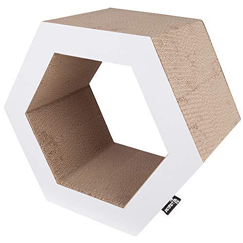 District 70 4723 - Mobile AntiGraffio in Cartone Ondulato, Misura S, 50 x 43 x 28 cm, Colore: Bianco