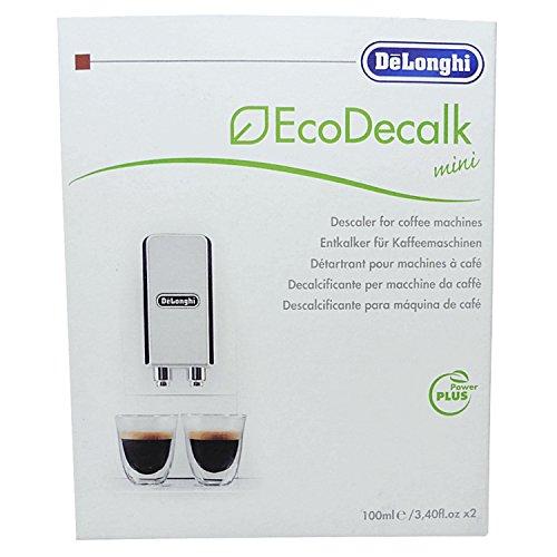 Lot de 3 détartrants DeLonghi Eco Decalk - Chacun 2 x 100 ml - Pour machine à café, expresso, à filtre, appareil de nettoyage à vapeur et station de repassage à vapeur
