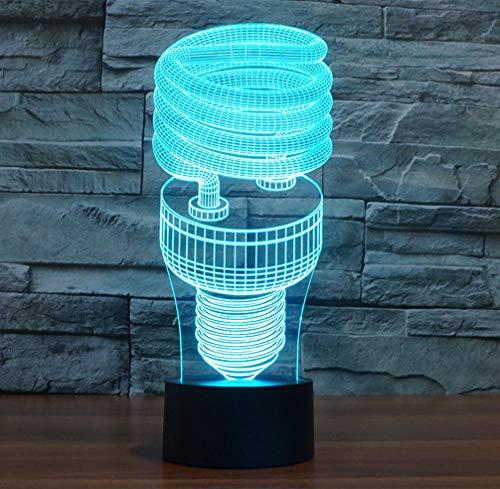 Joplc Kinder Geschenk Spielzeug Spirale Maschine 3D Lampe Wohnzimmer Lichter Kreative Touch Desktop Kreative Kleine Nachtlicht (Laser-licht-show-maschine)