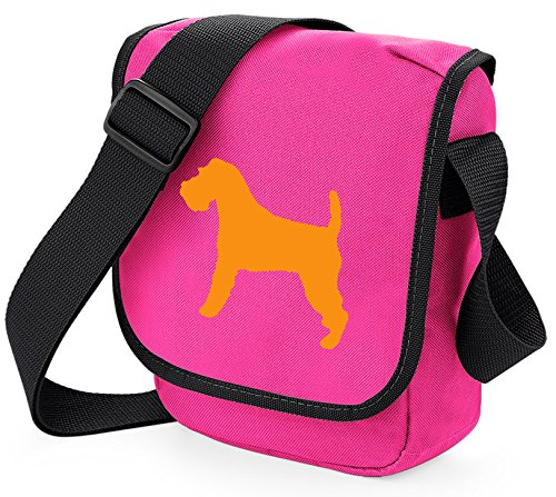 Bag Pixie - Borsa a tracolla unisex adulti Orange Dog Pink Bag