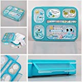 Shopaholic Best Wishes For You Lunch Box For Kids/teenagers(Light Blue)