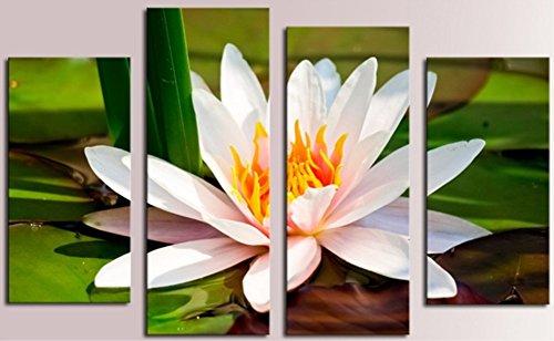 obella New Top Art Wand Leinwand Drucke 4Stück || Schöne weiße Lotus || modernes Poster Öl Gemälde Prints und Bilder Foto Bild Wall Art Prints auf Leinwand painting für Home (Retro Kit Rapper)