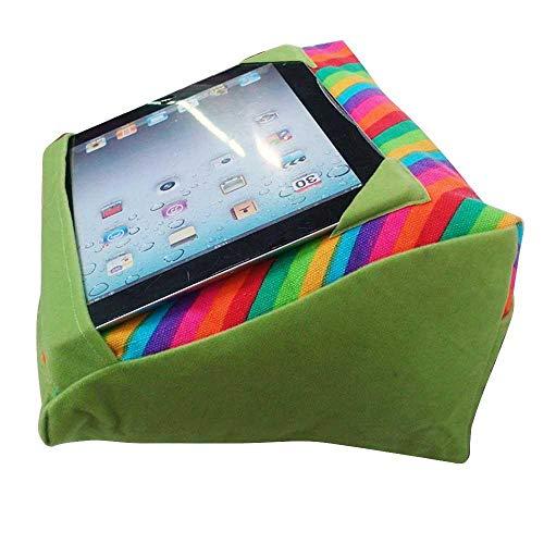 Volwco Keilförmige Tablett-Sofa-Halterung, iPad Kissen, Mikrofaser-Mini-Kissen, Computer-Halterung, Sofa, Leseständer auf dem Schoß, Bett, Sofa, Couch Stand With Pocket&Fixed Frame