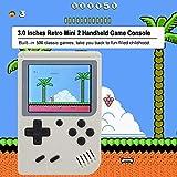 Gaddrt Spielzeug Handheld-Spieler Retro Mini-Handheld-Videospielkonsole Eingebaute 500 Klassische Spiele (Weiß)