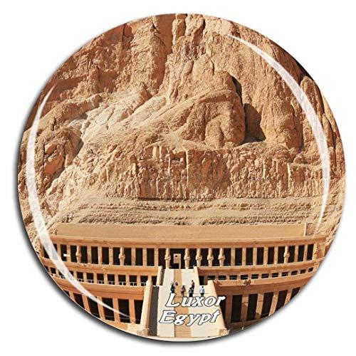 Weekino Totentempel der Hatschepsut Luxor Ägypten Kühlschrankmagnet 3D Kristallglas Tourist City Travel Souvenir Sammlung Geschenk Stark Kühlschrank Aufkleber -