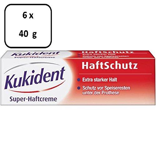 6 x Kukident Super-Haftcreme HaftSchutz - 40 g