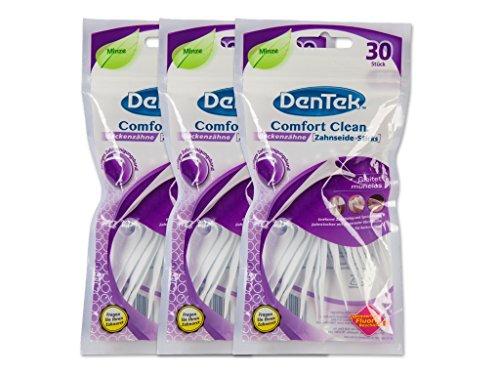 3x DenTek Comfort Clean Zahnseide Sticks