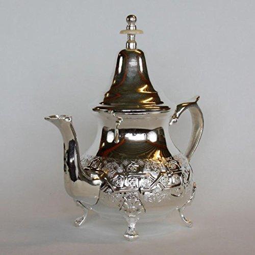 Casa Moro Marokkanische orientalische Silber Teekanne Elfassi 0,45 L | Kunsthandwerk aus der Stadt...