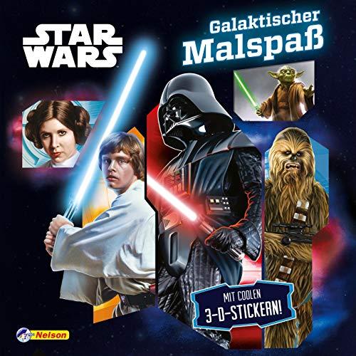 Star Wars: Galaktischer Malspaß: Mit coolen 3-D-Stickern (Wars Malbuch Star)