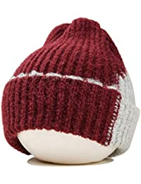Men's Skullies & Beanies Apparel Accessories Baby Winter Velvet Turban Hat Christmas Color Block Big Rabbit Ear Bowknot Beanie Cap Pleated Ruched Stretchy Ear Warmer