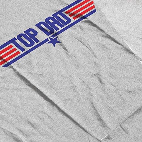 Top Dad Top Gun Logo Men's T-Shirt Heather Grey