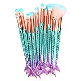 10pcs make up Fondazione sopracciglio eyeliner Blush cosmetici correttore spazzole,Yanhoo® Set pennelli da trucco Usato in per fondotinta, fard, sopracciglia, occhi