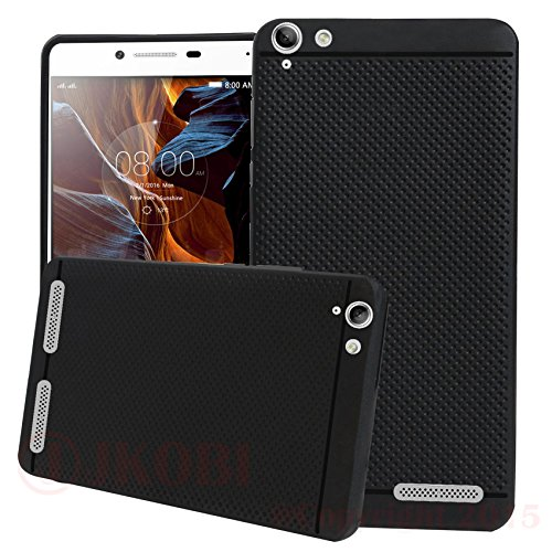 Jkobi DOTBLKLNVK5PLUS Classic Dotted Designed Soft Rubberised Back Case Cover For Lenovo Vibe K5 Plus,(Black)