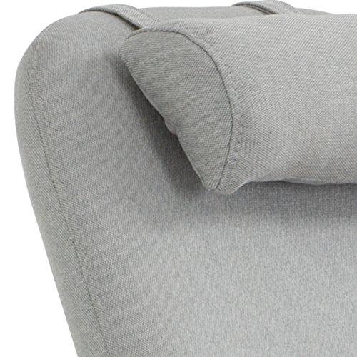 Designer Stillstuhl aus Stoff mit Armlehnen grau - 6