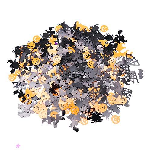 Werfen Kostüm Ring Herren - WSJDE 15g Kunststoff Halloween Dekoration werfen konfetti kürbis spinnenschläger Spinnennetz Hexe streusel Home Festival Party Supplies
