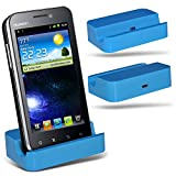 (Baby Blue)Huawei Ascend U8860 Honor Micro Desktop USB Charging Dock Mount Stand By ONX3
