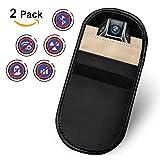 Amteker 2 Pack Strahlenschutz Tasche für Keyless Schlüssel, RFID Schutztasche Autoschlüsseletui, Auto Keyless Entry Fob Schutz Signal Blocker (Schwarz)