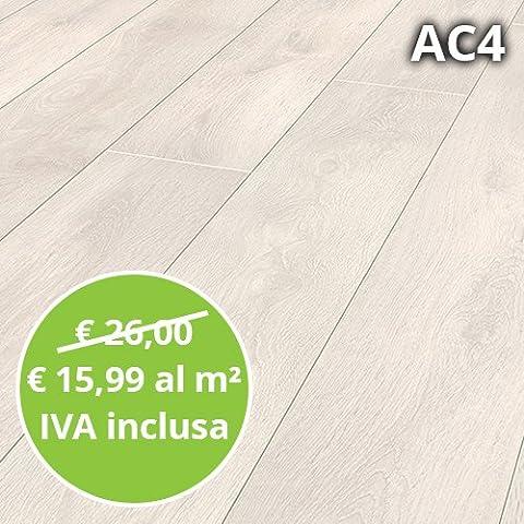 Pavimento in Laminato Rovere Aspen Confezione Da 2.22 Mq | AC4
