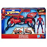 Marvel Spiderman - Spiderman Vehicule 3 en 1 avec Figurine, E0593