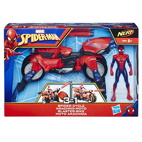 Marvel Spiderman-E0593 Moto Arácnida 3 en 1 Color...
