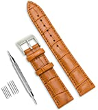 CIVO Uhrenarmband Echtes Leder Uhrband Watch Strap Top Kalbsleder 18mm 20mm 22mm Uhr Armband Watch Band für Herren Damen mit Federstege Werkzeug und 8 Pins Bonus (Braun, 20mm)