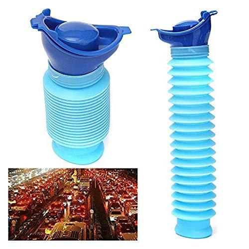 Notfall Urinal, tragbare persönliche mobile Toilette Mini Töpfchen Pee Flasche für Kinder oder Erwachsene Outdoor Camping Auto Reisen - Blau (750 ML) 1 Stücke