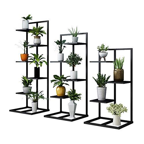 ZLJJ Hohe Metallpflanze-Pflanzgefäß-Ausstellungspflanzen im Innen- oder Außenbereich auf Einem Balkon-Patio-Garten oder als Raumteiler oder vertikaler Garten in Ihrem städtischen Gartenbau