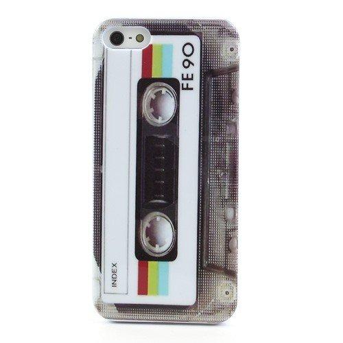 Cover Iphone Kassette 5s (jbTec® TPU-Case / Hülle zu Apple iPhone 5S / 5 / SE - CASSETTE - Schutzhülle, Backcover)