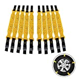 Lamptti - Juego de 10 Cadenas de Nieve para neumáticos de Coche, Cadena antiniebla antiniebla Universal para neumáticos de Emergencia, Bridas para tracción de Rueda