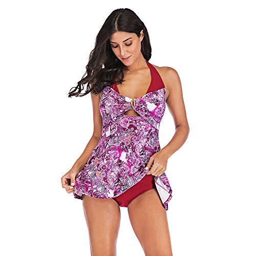 Fischnetz-shorts (Damen Top Übergröße drucken Tankini Schwimmanzug Badeanzug Beachwear Gepolsterte Badebekleidung Plus Size Print Shorts)