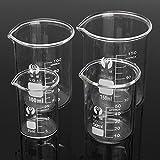 ChaRLes 4 Pezzi Di Vetro Borosilicato 25Ml 50Ml Ml 100Ml 150Ml Set Vetreria Laboratorio Volumetrico