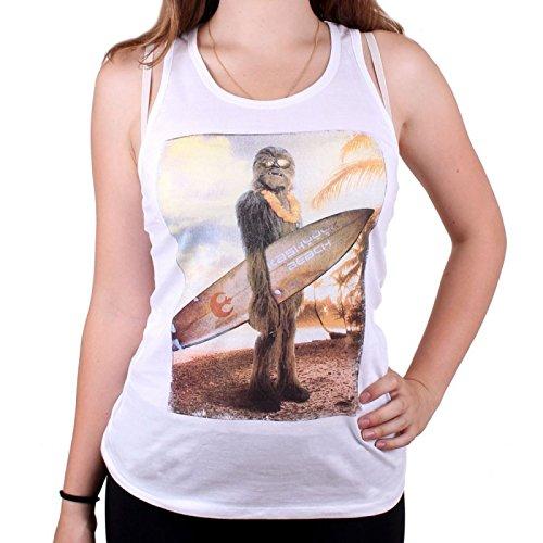 Star Wars Chewie On The Beach Girl-Top weiß M