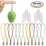 Naler 120 Aufhänger für Ostereier Kugel Deko Eieraufhänger Kugelaufhänger Ostern Eier mit Farbigen Schnur