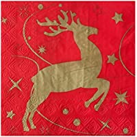 1//4 gefalzt 3-lagig Gr/ö/ße offen: 33x33 Rentier Nikolaus miniatures of xmas 40 Lunch Servietten Miniaturen Weihnachten