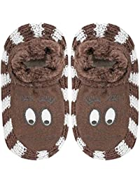 Neska Moda Girls 1 Pair Brown Booties Cum Indoor Slippers for 4 to 6 Years