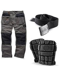 Scruffs Worker Plus Work Trousers Knee Pads Clip Belt