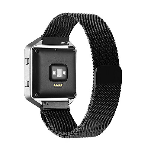Fitbit Blaze Cinturino,Simpeak Loop in Maglia Milanese Acciaio Inossidabile con Chiusura Magnetica Regolabile Bracciale Strap Band per Fitbit Blaze