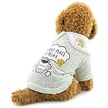smalllee _ Lucky _ store pequeño Polo perro mascota camiseta de algodón chaleco de perro Yorkie verano ropa verde M
