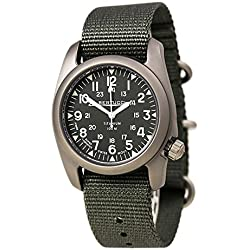 Bertucci A-2T Vintage Marine Green Titanium Watch with Olive Drab Nylon Strap 12030
