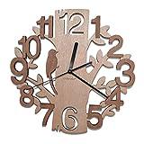 Richiede una batteria AA (non inclusa).Numeri semplici da leggere e lancetta dei minuti.L'orologio in legno sintetico con la combinazione pratico e bello, perfetto per il salotto, camera da letto, cucina, ufficio, bar, ristorante o arredament...