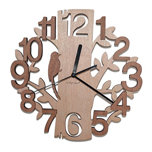 giftgarden-wooden-wall-clock-in-tree-shaped-design