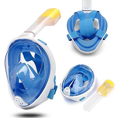 Dastrues Full Face Scuba Diving Mask Set Silicone Anti-Fog Swimming Masks Kit de Snorkel seco para niños Adultos
