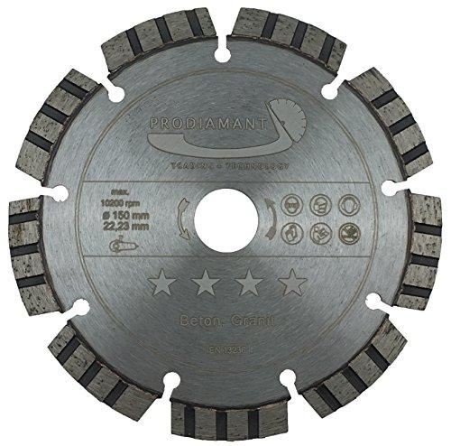 PRODIAMANT Premium Diamant-Trennscheibe Beton Laser 150 mm x 22,2 mm Diamanttrennscheibe PDX821.711 150mm für allgemeine Betonerzeugnisse
